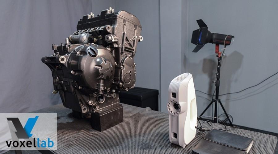 3D Scanning of Yamaha R6 aggregates
